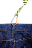 Climbing gear in a pocket Royalty Free Stock Image
