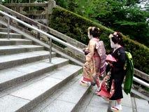 Climbing Geishas Stock Image