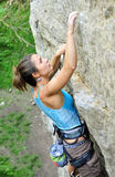 Climbing girl Royalty Free Stock Photography