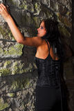 Climbing Goth Girl Royalty Free Stock Image
