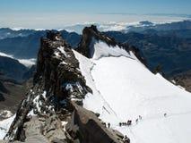 Climbing Gran Paradiso Royalty Free Stock Photo