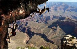 Climbing in the Grand Canyon Stock Photos