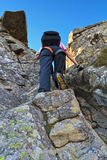 Climbing granite rocks Royalty Free Stock Images