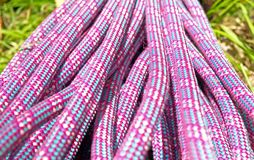 Climbing half rope detail Stock Photography