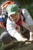 Climbing hiker Royalty Free Stock Photo