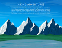 Climbing or hiking banner. Mountain landscape. Royalty Free Stock Image