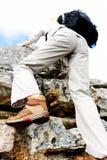 Climbing hiking boot Stock Photography