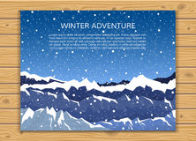Climbing, hiking or winter travelling banner. Stock Image