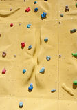 Climbing holds on an artificial climbing wall Stock Images