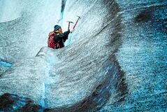 Climbing Ice Royalty Free Stock Images