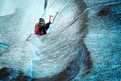 Climbing Ice Stock Images