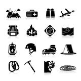 Climbing Icons Black Royalty Free Stock Image