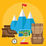Climbing icons Royalty Free Stock Photography