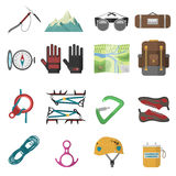 Climbing icons set vector. Royalty Free Stock Photo