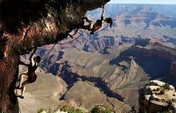 Climbing In The Grand Canyon Stock Photos