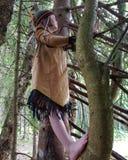 Climbing indian. Tree climbing indian girl dressup Royalty Free Stock Photo
