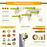 Climbing Infographics Set Stock Image