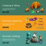 Climbing interactive 3d banners set Stock Photos