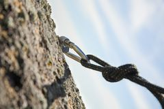 Climbing iron Stock Image