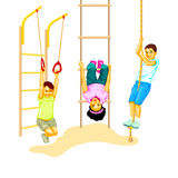 Climbing kids Royalty Free Stock Images