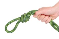 Climbing knot Stock Photo