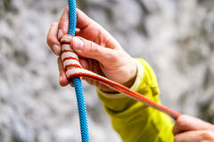Climbing knot Royalty Free Stock Image