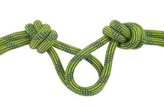 Climbing knot isolated on white Royalty Free Stock Images