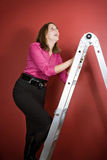 Climbing the Ladder Royalty Free Stock Photos