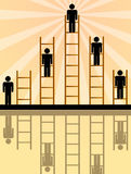Climbing the ladder. Of hierarchy, career or life Royalty Free Stock Photography