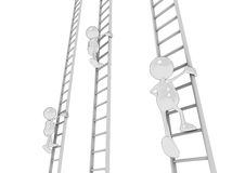 Climbing the ladder Stock Images