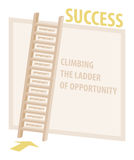 Climbing Ladder Of Opportunity Success Illustration Stock Photos