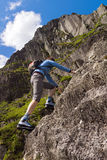 Climbing in the Lake District Royalty Free Stock Photo