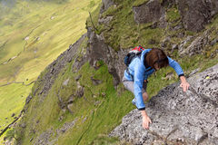 Climbing in the Lake District Royalty Free Stock Image