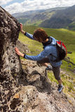 Climbing in the Lake District Royalty Free Stock Images
