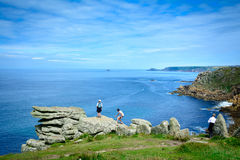 Climbing Lands End Royalty Free Stock Image
