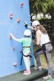 Climbing lesson Stock Photo