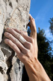 Climbing on limestone Royalty Free Stock Photography