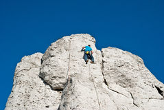 Climbing man Royalty Free Stock Image