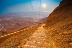 Climbing the Masada Royalty Free Stock Photos