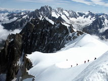 Climbing Mont Alps Stock Photography