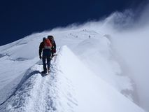 Climbing Mont Blanc in france Royalty Free Stock Photo