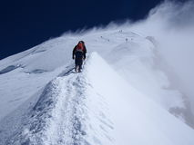Climbing Mont Blanc in france Stock Images