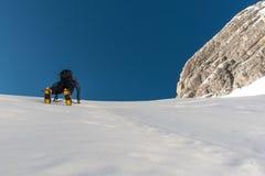 Climbing Mount Jalovec Royalty Free Stock Photos