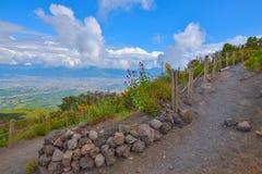 Climbing mount Vesuvius Stock Images