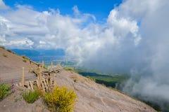 Climbing mount Vesuvius Stock Photography