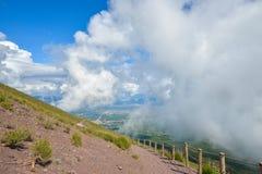 Climbing mount Vesuvius Stock Image