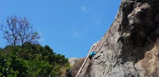 Climbing the mountain royalty free stock photography
