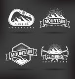 Climbing Mountain Label Stock Images