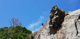 Climbing the mountain royalty free stock photo