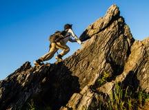 Climbing mountain Royalty Free Stock Photos